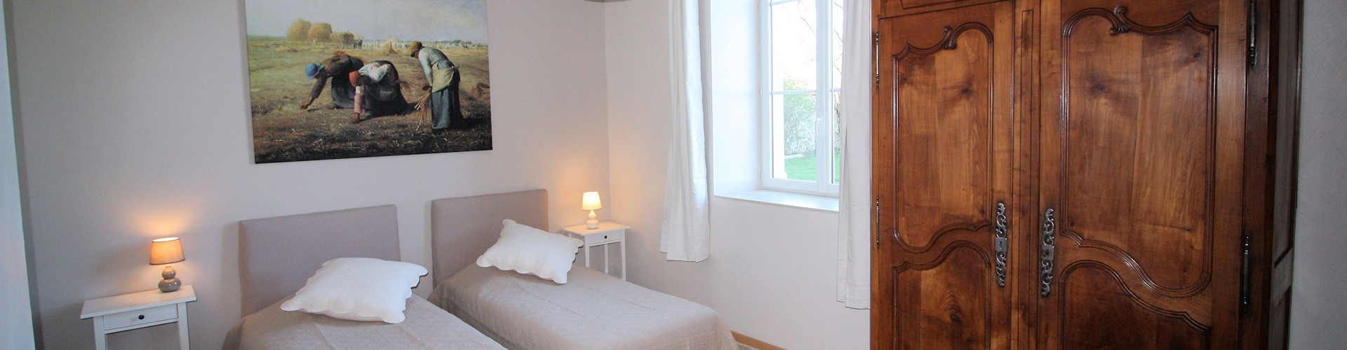 Ferme d'Orsonville - Living Cottage - Bedroom Millet
